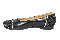 Pantofi balerini dama  - Balerini dama piele naturala 026 negru pipit 34-41
