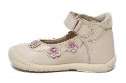 Pantofi balerini copii  - Balerini fete inalt pe glezna hokide 401 bej 18-24
