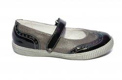 Pantofi balerini copii  - Balerini fete scoala hokide 419 blu lac 26-35