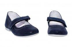 Pantofi balerini copii  - Balerini fete scoala hokide 421 blu lux 26-35