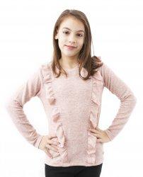 Bluze copii cu maneca lunga  - Bluze fete breeze 2655 roz 128-152cm
