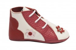 Botosei copii  - Botosei fete bebe piele naturala 101101 alb rosu 15-19