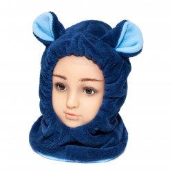 Caciuli fesuri cagule groase copii  - Cagula copii de iarna G9 blu bleu 1-7ani