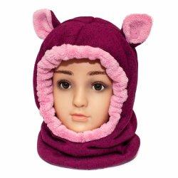 Caciuli fesuri cagule groase copii  - Cagule fete de iarna G5 grena roz 1-7ani
