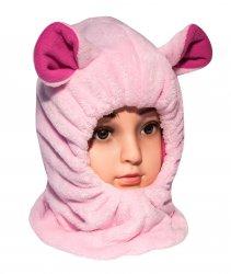 Caciuli fesuri cagule groase copii  - Cagule fete de iarna G9 roz 1-5ani