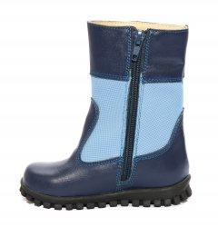 Cizme copii  - Cizme baieti blana 1395 albastru blue 20-25
