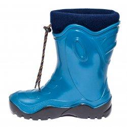Cizme cauciuc copii  - Cizme copii cauciuc cu blana iarna 4 turcoaz blu 24-39