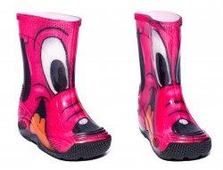 Cizme cauciuc copii  - Cizme fete cauciuc de ploaie catel roz 20-30