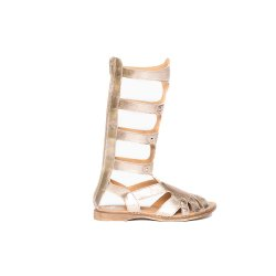 Sandale copii  - Cizme fete de vara piele pj shoes Gladiator bronz 27-36