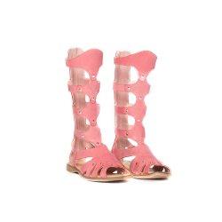 Sandale copii  - Cizme fete de vara piele pj shoes Gladiator roz 27-36