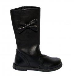 Cizme copii  - Cizme fete pj shoes Ada negru 27-36