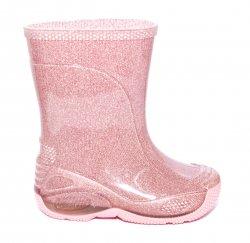 Cizme cauciuc copii  - Cizmulite cauciuc fete 2 roz lux 20-30