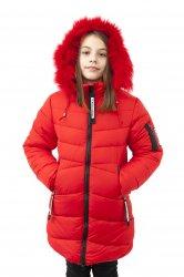Geci jachete copii  - Geci fete de iarna groase 2126 rosu 128-164cm