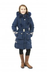 Geci jachete copii  - Geci fete de iarna groase 2127 blumarin 128-164cm