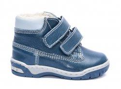 Ghete blana copii  - Ghete baieti cu blana de iarna hokide 412 albastru 26-30
