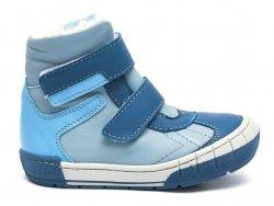 Ghete blana copii  - Ghete baieti cu blana pj shoes Kiro albastru bleu 20-29