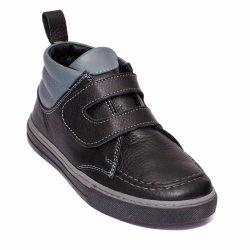 Ghete copii  - Ghete baieti din piele naturala pj shoes Mateo blu gri 27-36
