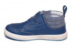 Ghete copii  - Ghete baieti din piele pj shoes Mateo albastru arici 27-36