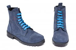 Ghete blana copii  - Ghete copii cu blana pj shoes King albastru nabuc 27-37