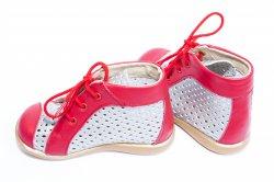 Sandale copii  - Ghete copii perforate 586 rosu arg