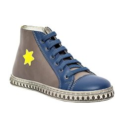 Ghete copii  - Ghete copii piele pj shoes Rebel blu gri 27-37
