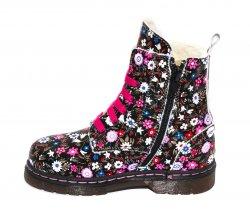 Ghete blana copii  - Ghete fete blana pj shoes King print roz 27-36