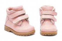 Ghete blana copii  - Ghete fete cu blana de iarna 733 roz 19-25