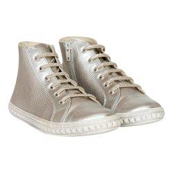 Ghete copii  - Ghete fete din piele pj shoes Rebel argintiu 27-36
