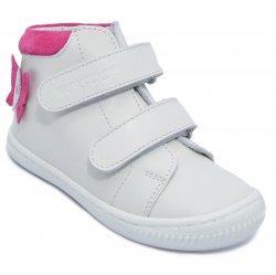 Ghete copii  - Ghete fete flexibile hokide 417 alb fuxia 18-25