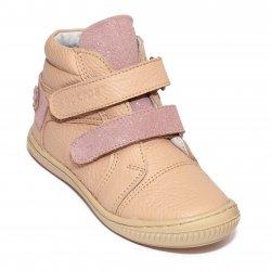 Ghete copii  - Ghete fete flexibile hokide 455 roz bej 26-30