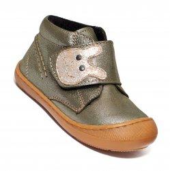 Ghete blana copii  - Ghete flexibile fete vatuite pj shoes Teddy vernil 18-26