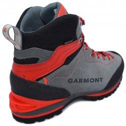 Ghete goretex copii  - Ghete gore-tex talpa Vibram Garmont Ascent GTX gri rosu 36-49