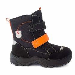 Ghete goretex copii  - Ghete impermeabile copii GT tex 95113 negru orange 26-35