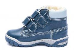 Ghete blana copii  - Ghetute baieti cu blana de iarna hokide 412 albastru 19-25