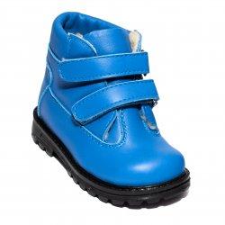 Ghete blana copii  - Ghetute copii cu blana de iarna 733 blue 19-25