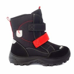 Ghete blana copii  - Ghetute copii cu blana impermeabile GT tex 93311 negru red 20-25