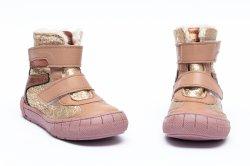 Ghete blana copii  - Ghetute fete blana pj shoes Kiro auriu 20-29