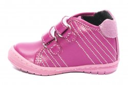 Ghete copii  - Ghetute fete piele pj shoes Seby roz 20-26