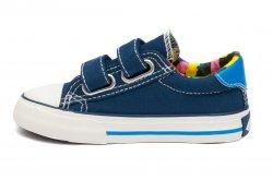 Tenisi copii  - Incaltaminte sport baieti textil 60-6A albastrru 24-35
