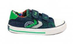 Tenisi copii  - Incaltaminte sport baieti textil 60-6A blu verde 24-35