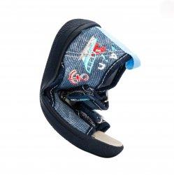 Tenisi copii  - Incaltaminte baieti flexibila cu brant din piele 1112 albastru 20-25