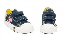 Tenisi copii  - Incaltaminte copii sport textil 60-7A albastru galben 24-35