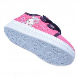 Tenisi copii  - Incaltaminte fete textil cu brant din piele 20-001 pink 20-25