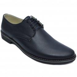 Pantofi copii  - Pantofi baieti piele naturala 9 blu box 36-46