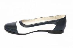 Pantofi balerini dama  - Pantofi balerini dama 026.8 blu alb 34-41