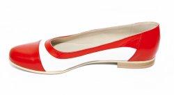 Pantofi balerini dama  - Pantofi balerini dama 026.8 corai alb 34-41