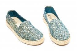 Pantofi balerini dama  - Pantofi balerini dama 656 albastru 36-40