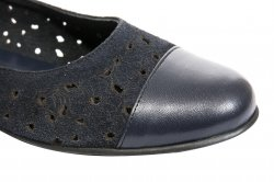 Pantofi balerini dama  - Pantofi balerini dama perforati laser 26 negru