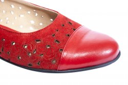 Pantofi balerini dama  - Pantofi balerini dama perforati laser 26 rosu