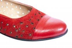 Pantofi balerini dama  - Pantofi balerini dama perforati laser 26 bej